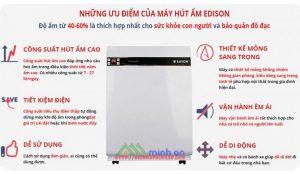 Ưu điểm của máy hút ẩm gia đình Edison ED-16BE