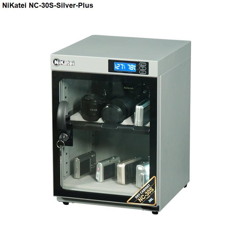 Tủ chống ẩm cao cấp Nikatei NC-30S Silver Plus