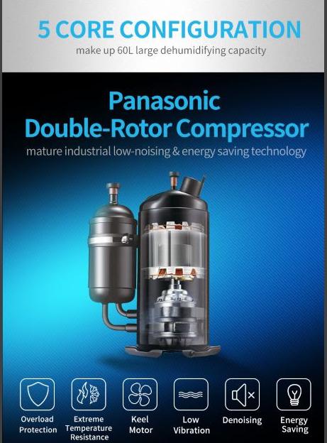 Hệ thống máy nén Panasonic của Dorosin ERS-860L