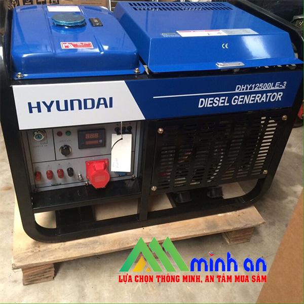 Máy phát điện chạy dầu Huyndai DHY12500LE-3
