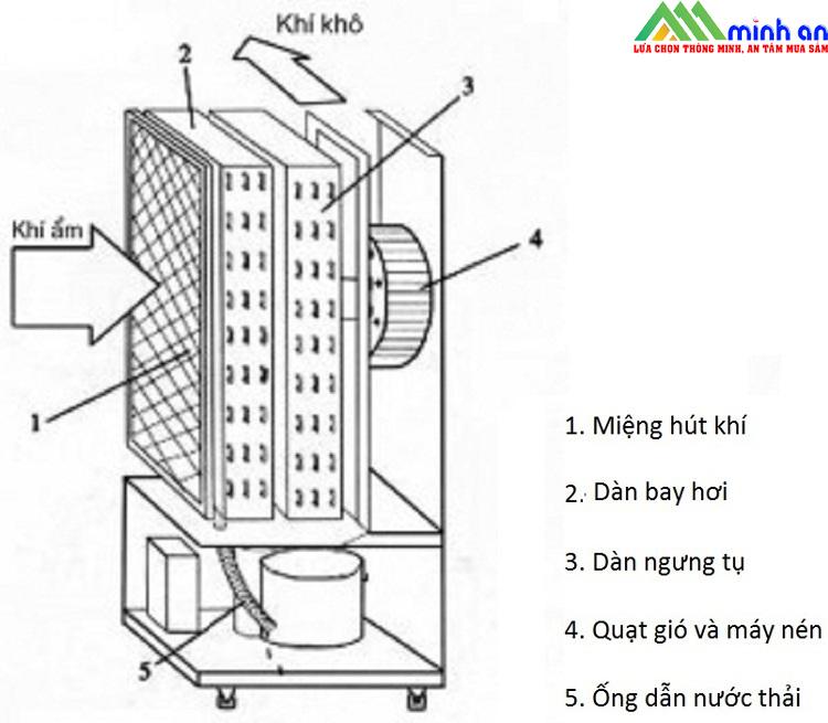 Nguyên lý hoạt động của máy hút ẩm