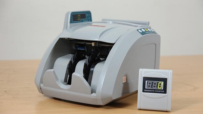 Máy đếm tiền phát hiển tiền siêu giả MC-8600