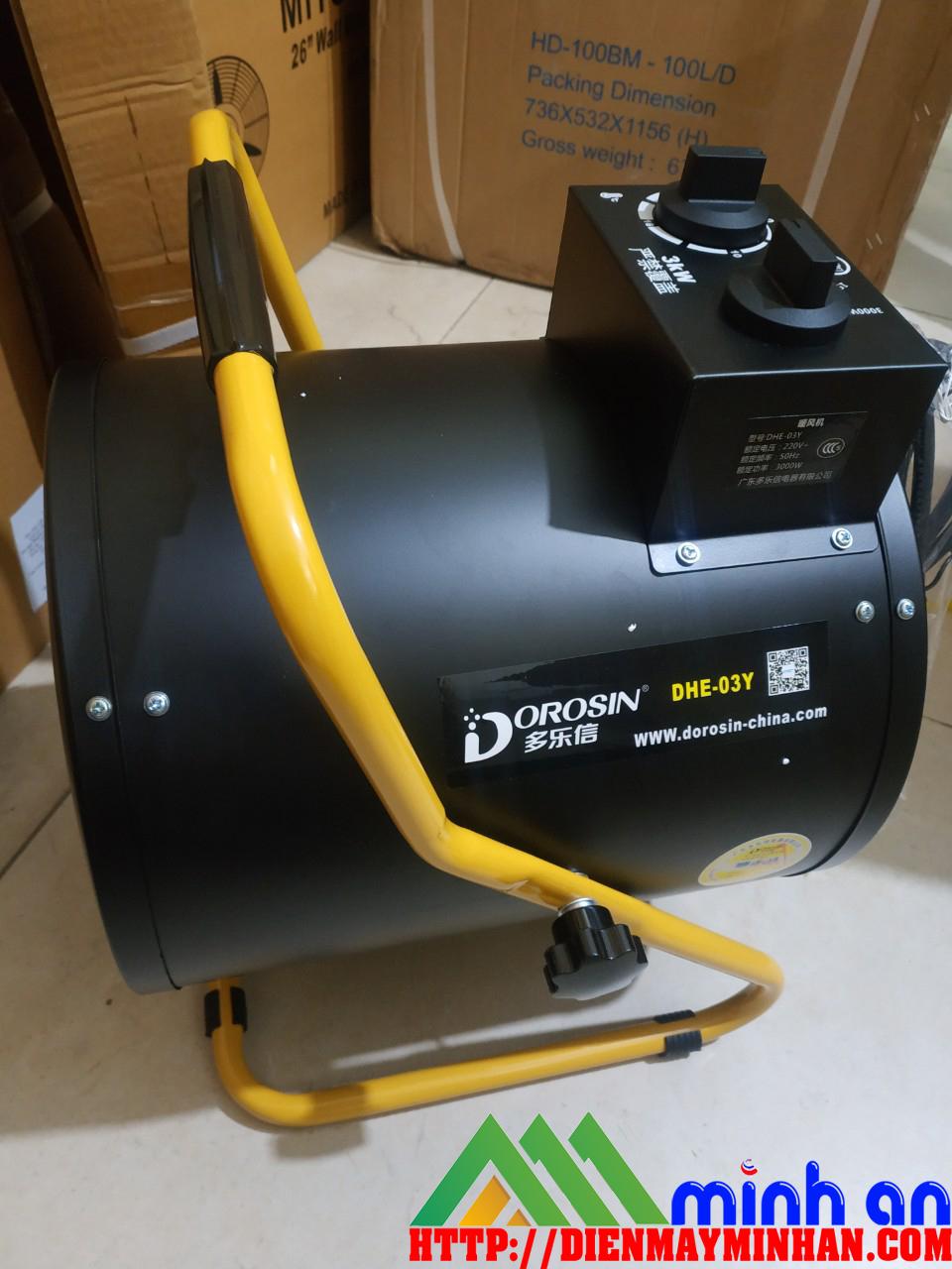 Quạt sưởi gió nóng công nghiệp Dorosin DHE-03Y ( 3000W)