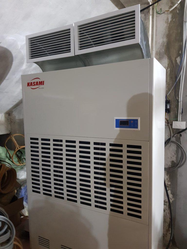 Sử dụng Máy hút ẩm công nghiệp Kasami để sấy