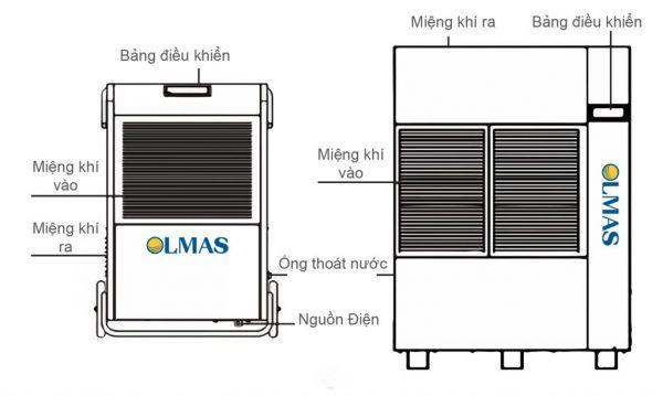 Cách đặt máy hút ẩm công nghiệp olmas