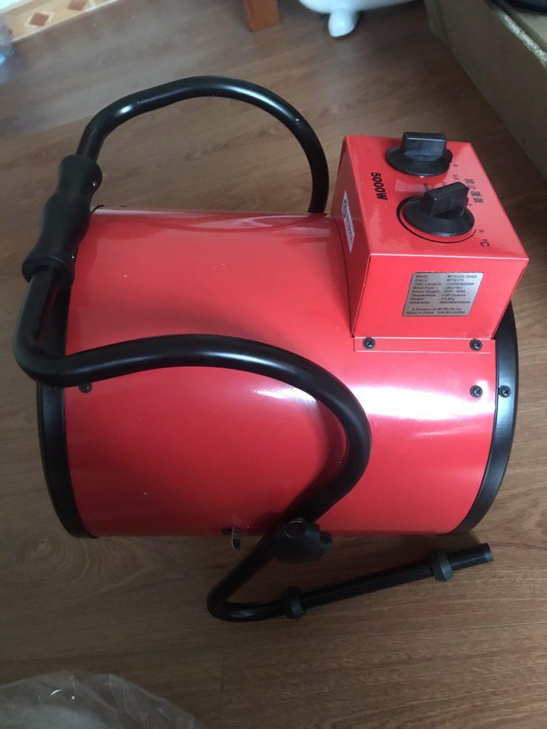 Máy sấy gió nóng công nghiệp 5kw màu đỏ