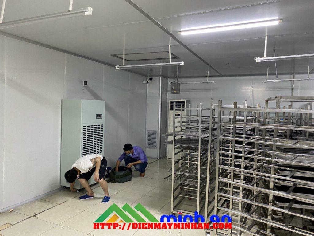 Lăp máy hút ẩm công nghiệp cho kho lương thực